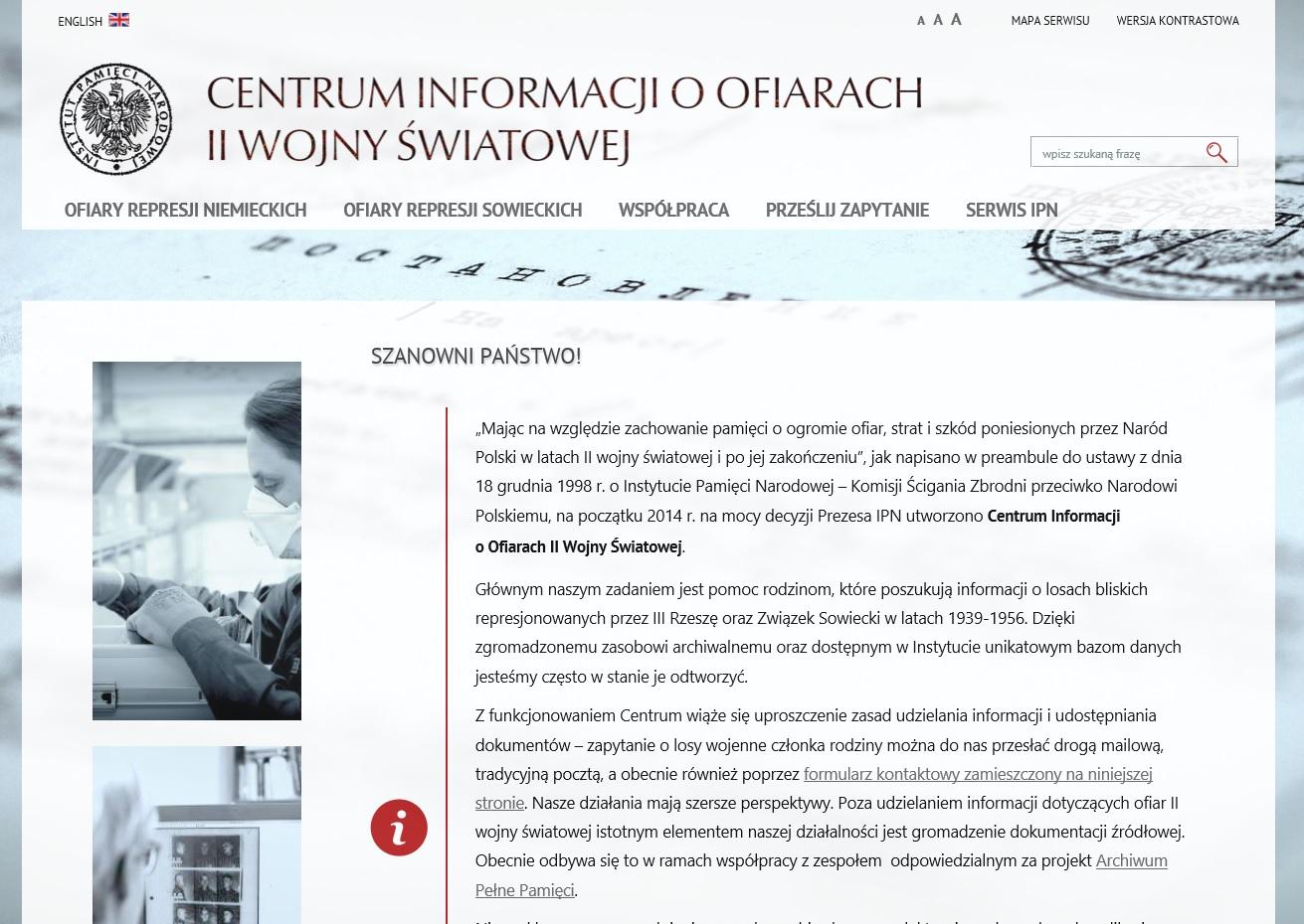 Centrum Udzielania Informacji o Ofiarach II WŚ